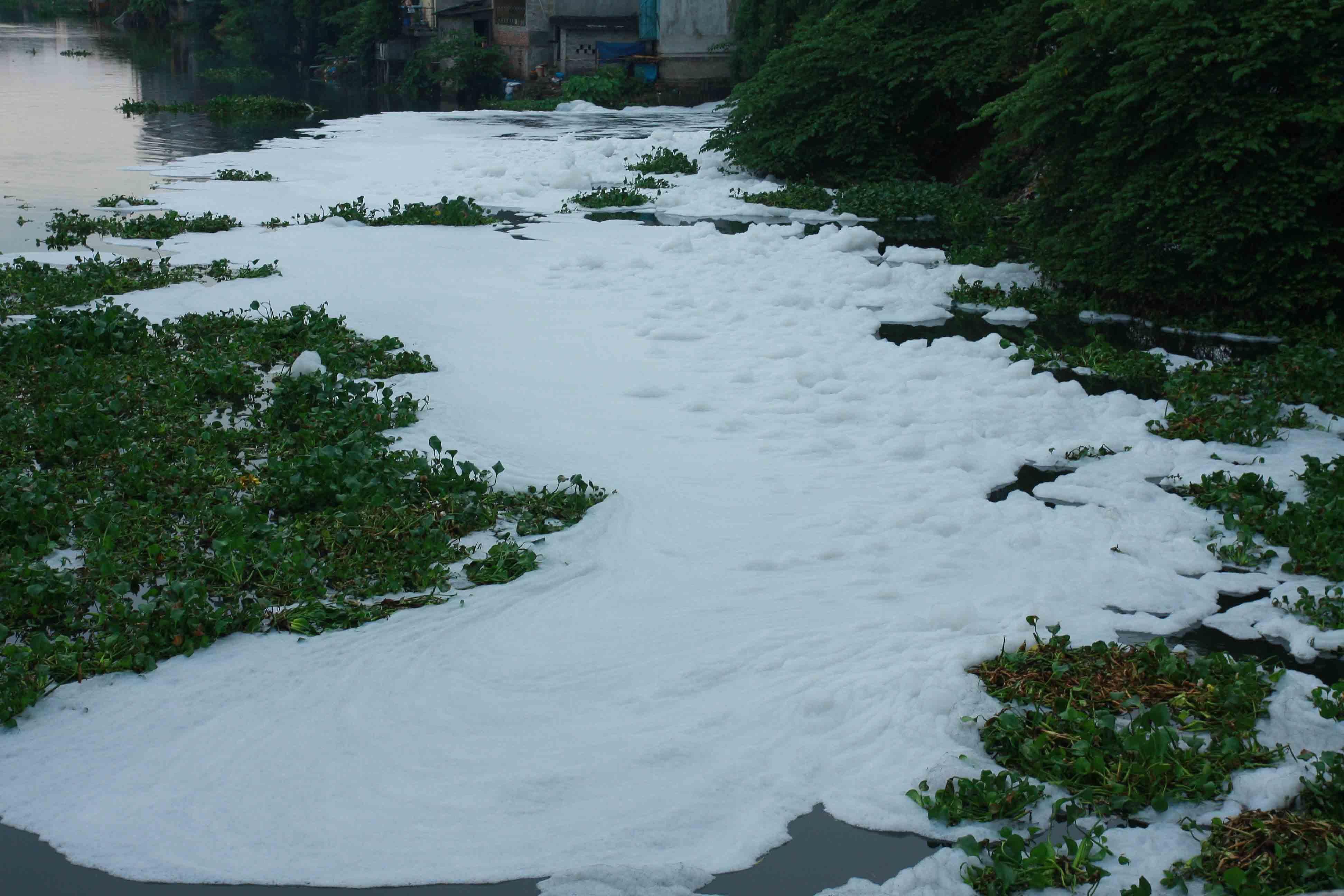 Ô nhiễm môi trường là vấn đề luôn được các cấp quan tâm. Ảnh Xuân Dương